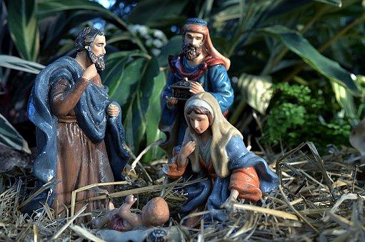 Merry Christmas Manger scene