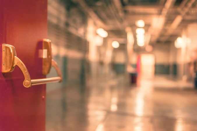 school hallway door